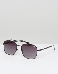 Quay Australia To Be Seen Aviator Sunglasses In Black - Black