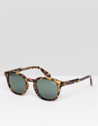 Quay Australia Walk On Round Sunglasses In Tort - Brown