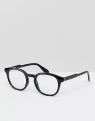 Quay Australia Walk On square clear lens glasses in black - Black
