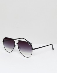 Quay Australia X Desi High Key Sunglasses In Black Fade - Black