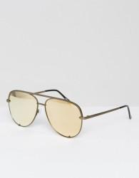 Quay Australia X Desi Perkins High Key Aviator Sunglasses in Gold - Gold