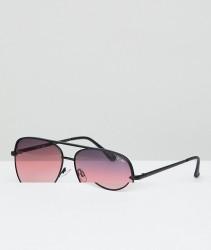 Quay Australia X Desi Sahara Aviator Sunglasses In Matte Black - Black