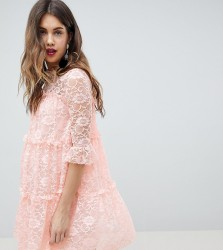 Queen Bee Allover Lace Smock Dress - Multi