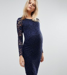 Queen Bee Lace Bodycon Dress - Navy