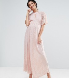 Queen Bee Lace Maxi Dress - Pink