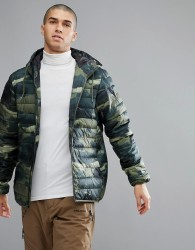 Quicksilver Quilted Everyday Scaly Jacket in Camo - Green
