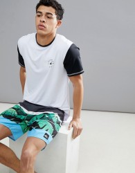 Quiksilver Colour Blocked Surf T-Shirt In White - White
