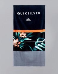 Quiksilver Freshness Towel In Hawaiian Floral Print - Black