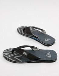 Quiksilver Molokai Flip Flop In Black/Blue/Grey - Black