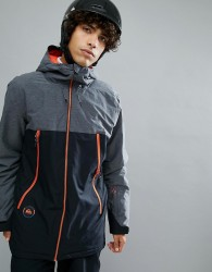 Quiksilver Sierra Ski Jacket in Black with Contrast Detail - Black