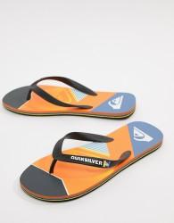 Quiksilver Slash Fade Logo Flip Flop In Orange - Orange