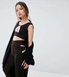 Quontum Petite Contrast Crop Top - Black