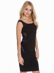 Quontum Wrap Strap Vest Dress Kropsnære kjoler Black