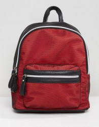 Qupid Backpack With Mesh Overlay - Black