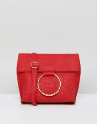 Qupid Buckle Ring Across Body Bag - Red