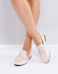 Qupid Flat Stud Shoe - Beige