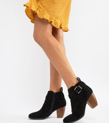 QUPID Mid Ankle Boots - Black