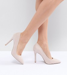 QUPID Pointed High Heeled Shoes - Beige