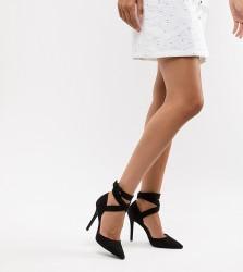 QUPID Pointed High Heels - Black