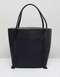 Qupid Shoulder Bag With Front Pouch - Black