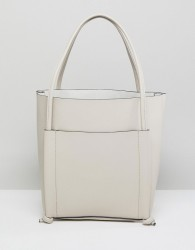 Qupid Shoulder Bag With Front Pouch - Stone