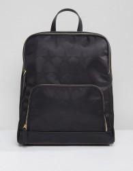 Qupid Star Print Backpack - Black