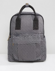 Qupid Star Print Backpack With Front Pocket - Black