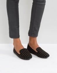 Qupid Stud Slipper - Black