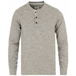 Rag & Bone Classic Henley Medium Grey