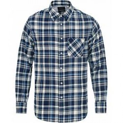 Rag & Bone Fit3 Check Beach Shirt Indigo Plaid