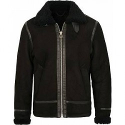 rag & bone Flight Shearling Jacket Black
