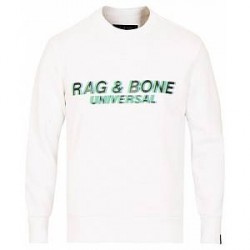 rag & bone Glitch Sweatshirt White