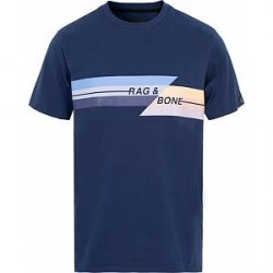 Rag & Bone Glitch Tee Dark Blue