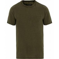 Rag & Bone Owen Pocket Linen Tee Army Green