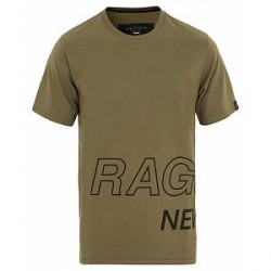 Rag & Bone R&B Rap Around Tee Army Green