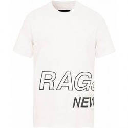 rag & bone RB Wrap Around Tee White