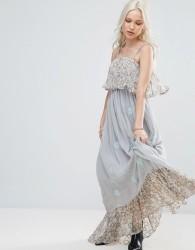 Raga Amor In Tambor Ruffle Maxi Dress - Blue