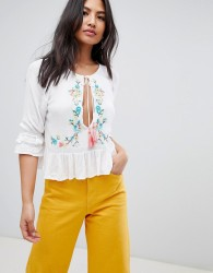 Raga Ashlynn Embroidered Blouse - White