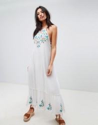 Raga Ashlynn Embroidered Maxi Dress - White