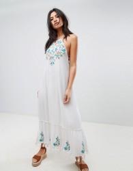 Raga Ashlynn Embroidered Maxi Dress - White