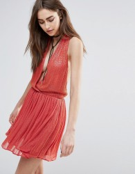 Raga Be Mine Embellished Mini Dress in Coarl - Orange