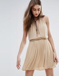 Raga Be Mine Embellished Mini Dress in Nude - Beige