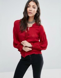 Raga Bewitched Boho Blouse - Red