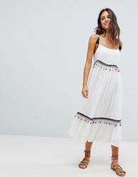 Raga Coconut Cove Pom Pom Midi Dress - White