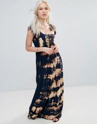 Raga Desert Daze Tie Dye Maxi Dress - Black