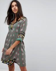 Raga Elena Printed Tunic Dress - Green