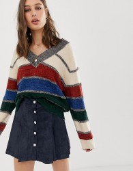 Raga Garcia sporty stripe knit jumper - Multi
