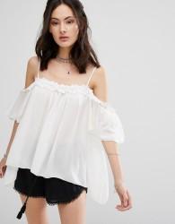 Raga Hudson Cold Shoulder Blouse - White