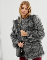 Raga Kora faux fur coat - Grey