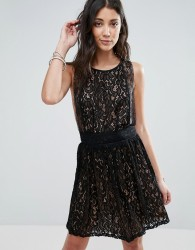 Raga Lani Sleeveless Lace Dress - Black